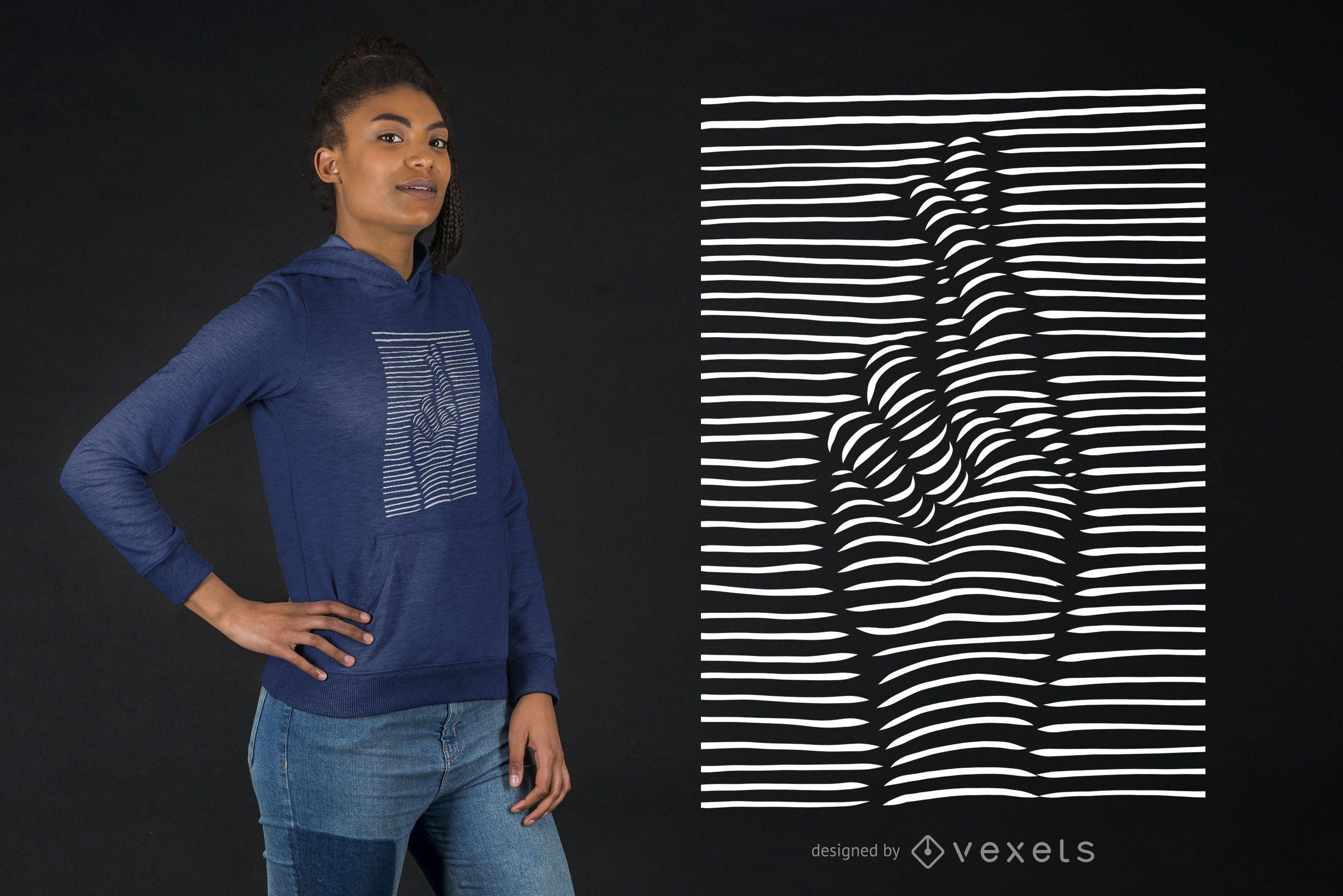 3D Effect Crossed Fingers T-shirt Design