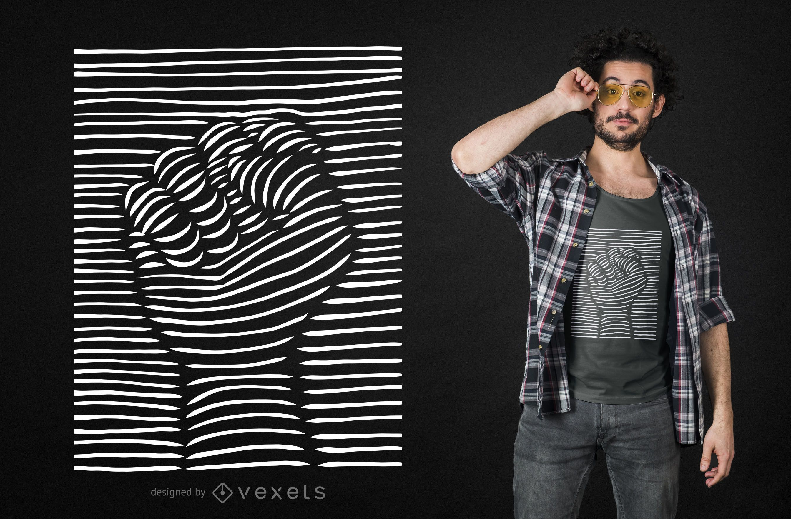 3D Effect Raised Fist T-shirt Design