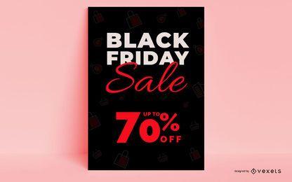 Diseño de cartel de viernes negro
