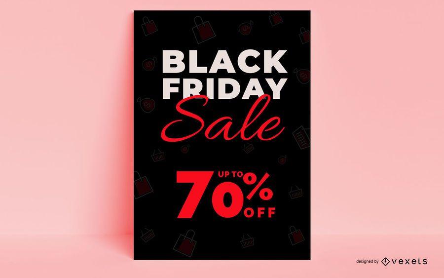 Diseño de carteles de viernes negro
