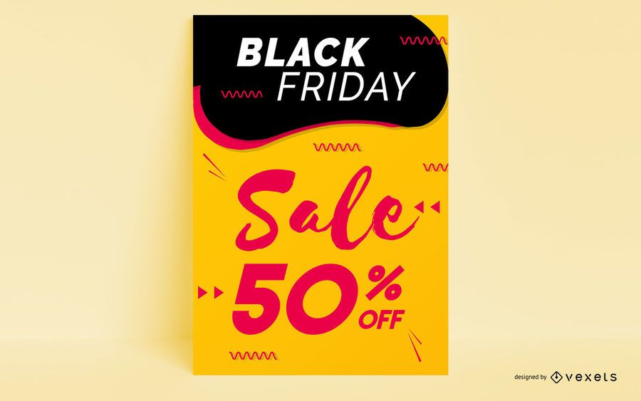 Black friday sale poster design