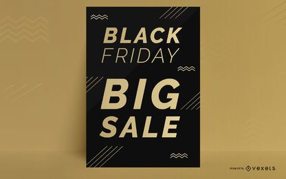 Design de cartaz com desconto na Black Friday