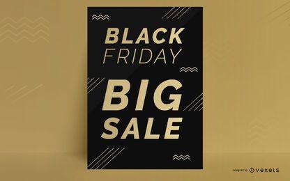 Schwarzer Freitag Rabatt Plakatgestaltung