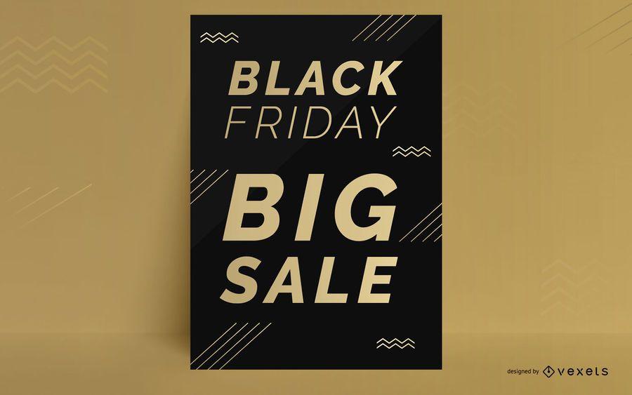 Schwarzer Freitag-Rabattplakatdesign
