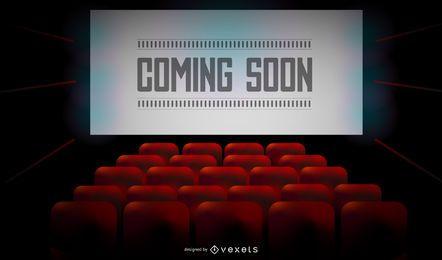 Design de tela para cinema em breve
