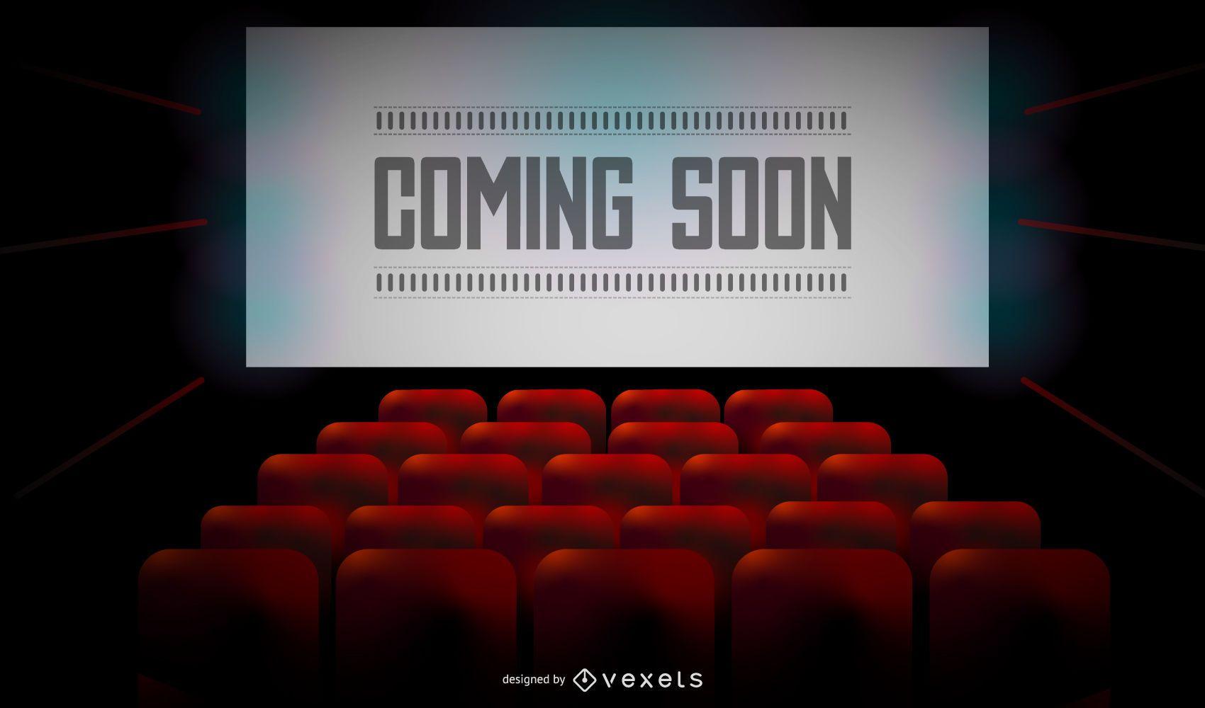 Movie Theatre Coming Soon Screen Design