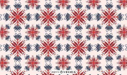 Diseño de patrón de flores escandinavas