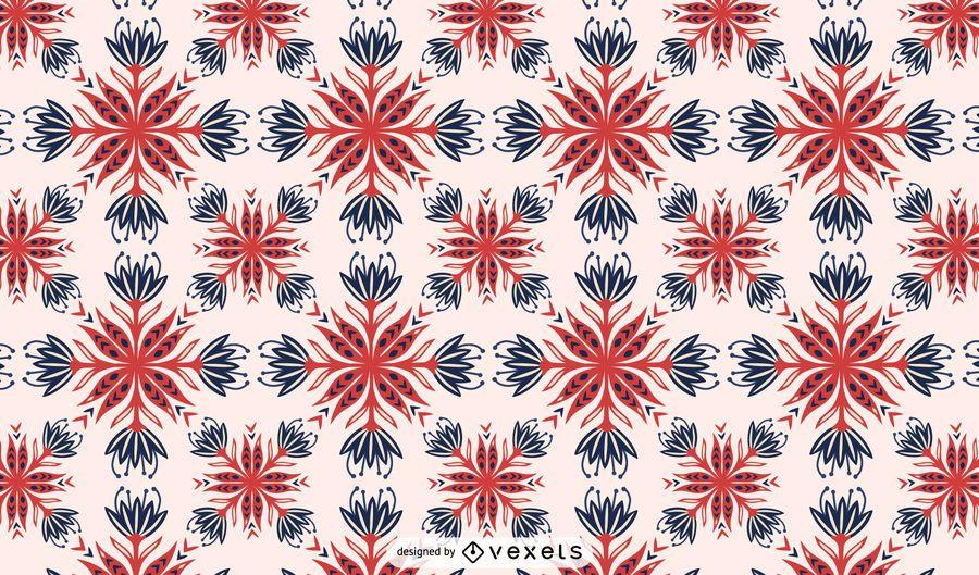 Scandinavian flowers pattern design
