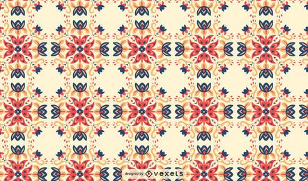Flowers swirls scandinavian pattern