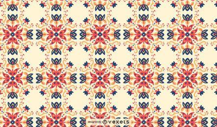 Padrão escandinavo de redemoinhos de flores