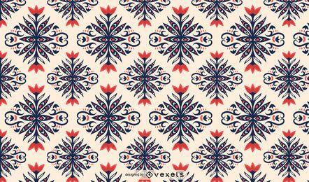 Patrón floral escandinavo