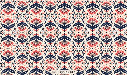 Scandinavian folk art floral pattern