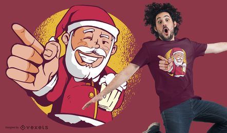 Santa beer t-shirt design