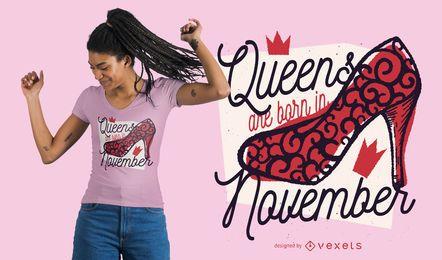 Rainhas nascidas em design de t-shirt