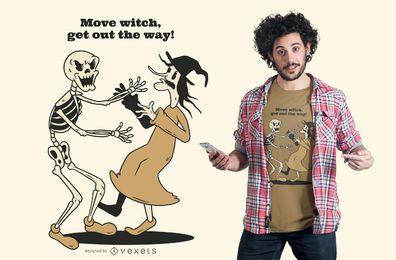 Mover o design de t-shirt de bruxa
