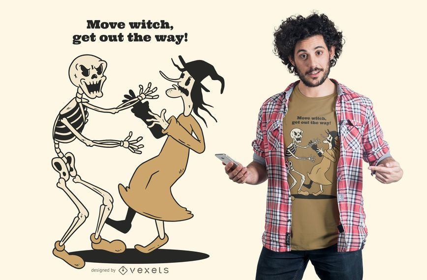 Move witch t-shirt design