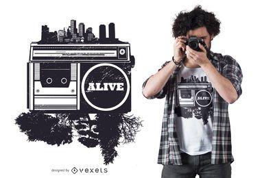Diseño de camiseta hip hop