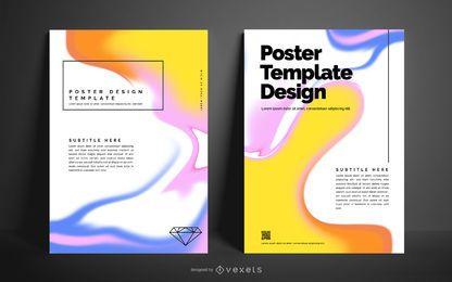 Design de cartaz abstrato líquido