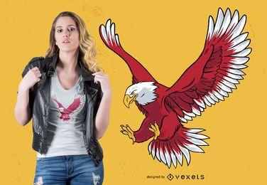 Diseño de camiseta de águila calva