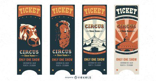 Conjunto de bilhetes de circo