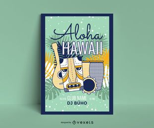 Modelo de cartaz - aloha havaí