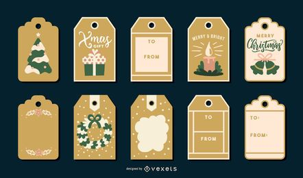 Pacote de etiquetas de Natal