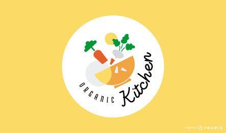 Design de logotipo de cozinha orgânica