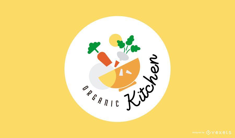 Diseño de logotipo de cocina orgánica.