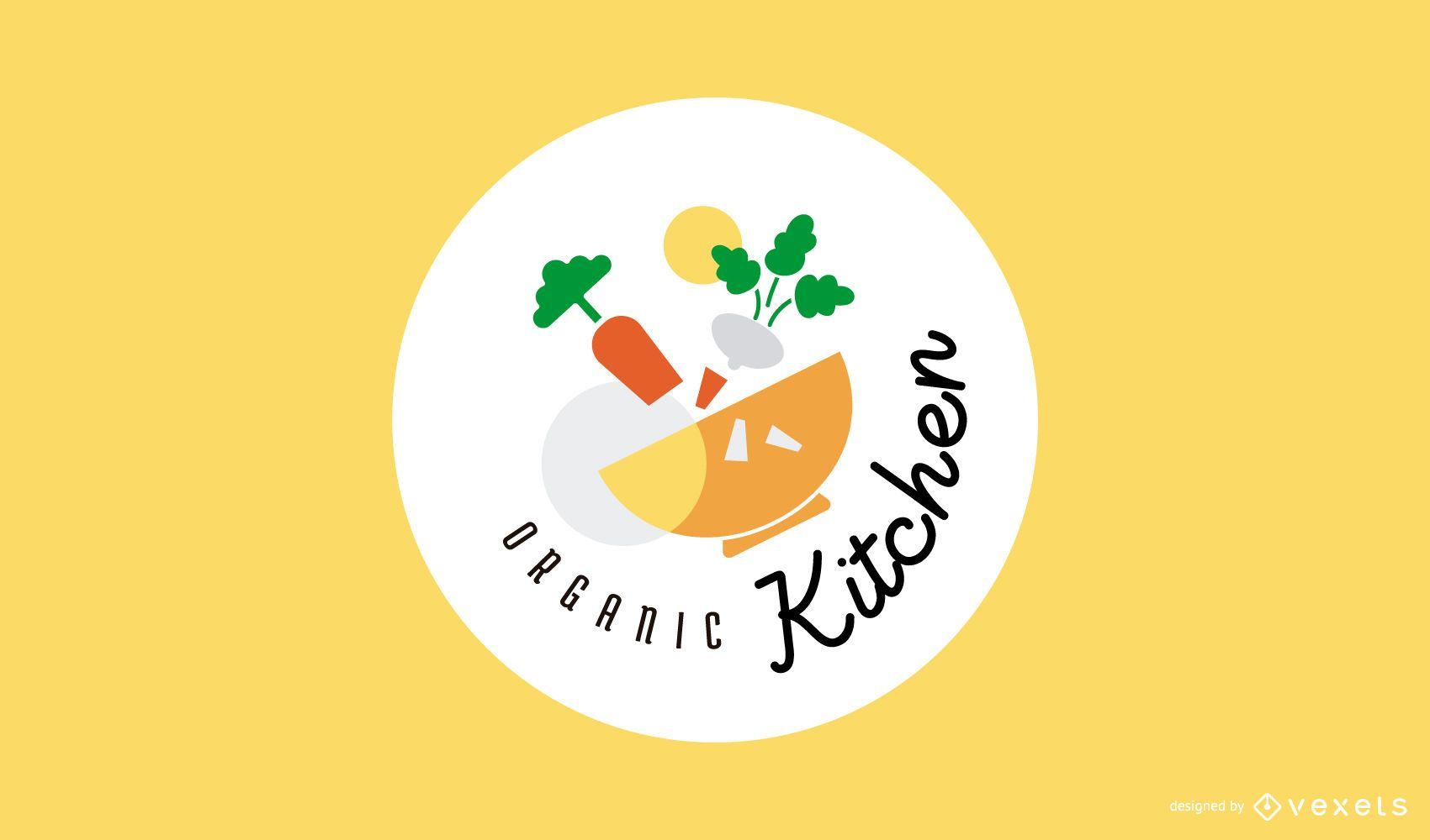 Diseño de logotipo de cocina orgánica