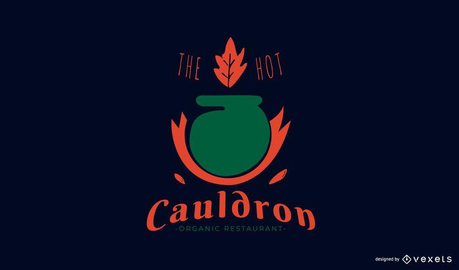 Diseño de logotipo de restaurante orgánico.