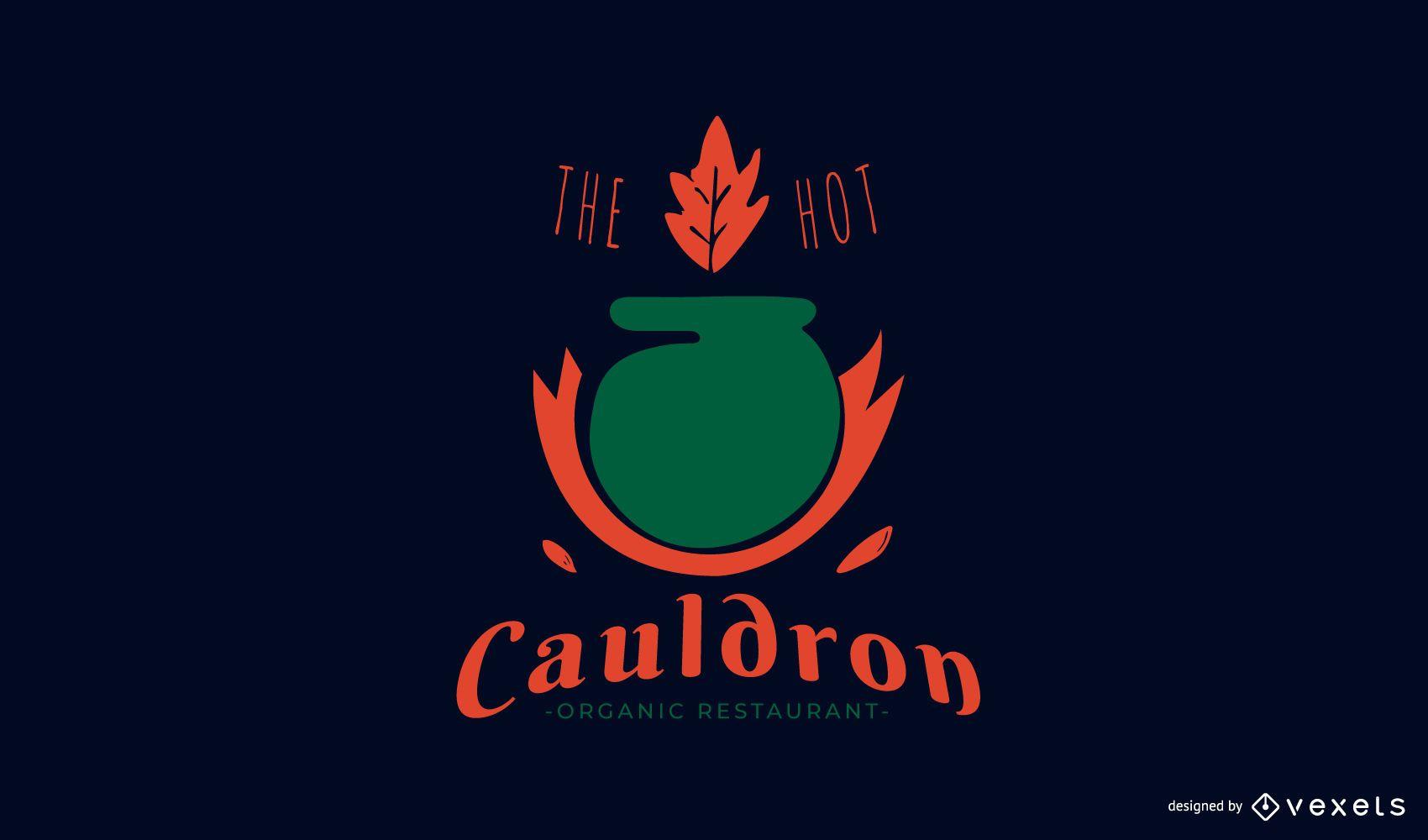 Diseño de logotipo de restaurante orgánico