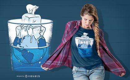 Diseño de camiseta de oso de hielo