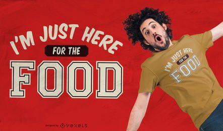 Aqui para design de t-shirt de comida