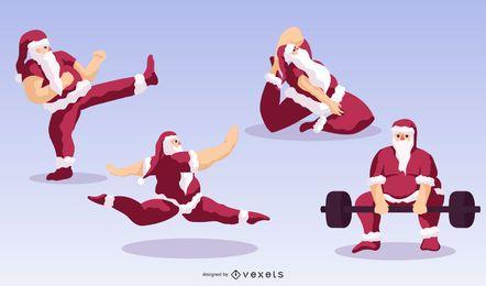 Paquete de personajes deportivos de Santa Claus