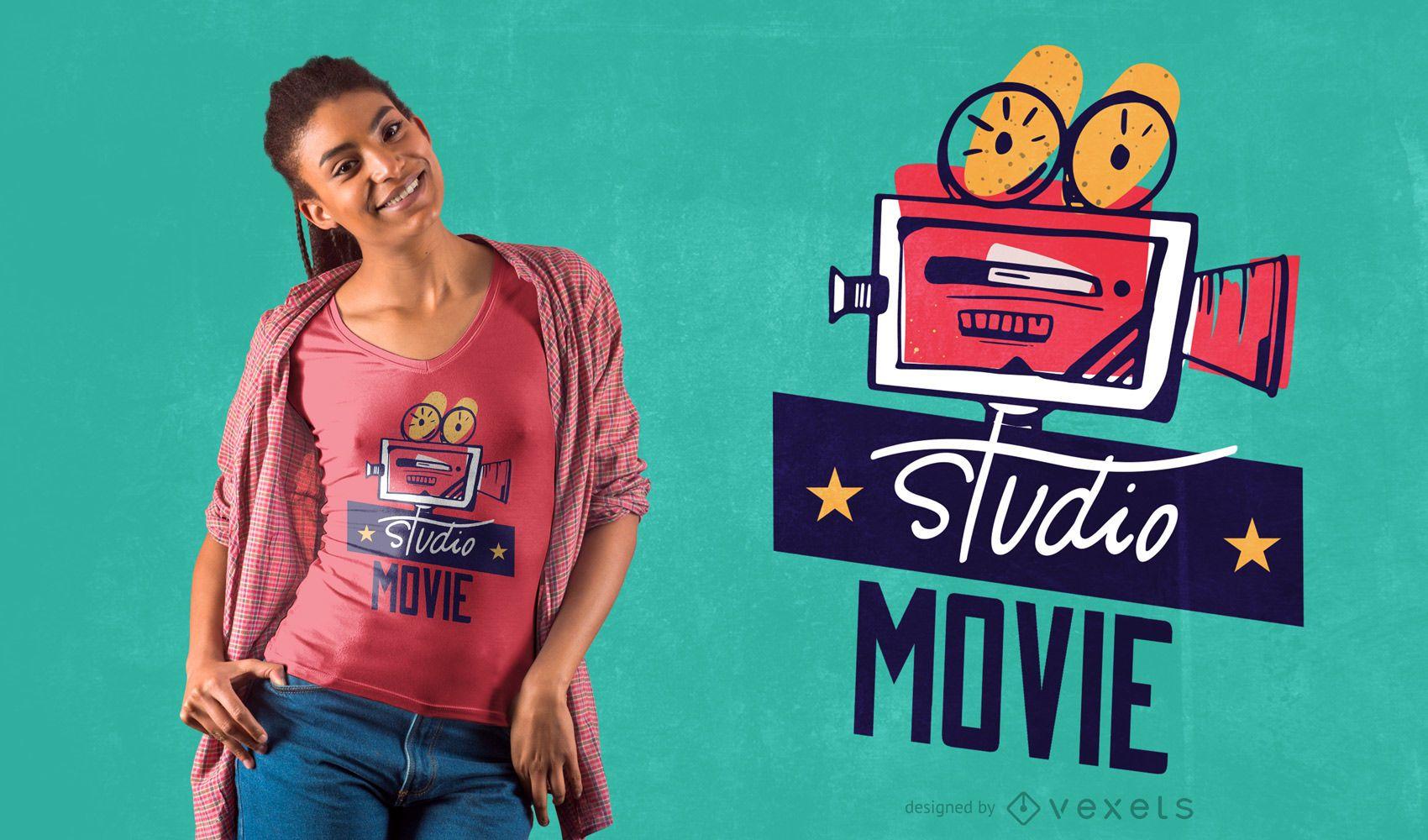 Design de camiseta de filme de estúdio