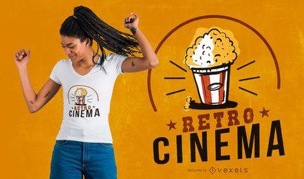 Diseño de camiseta de cine retro