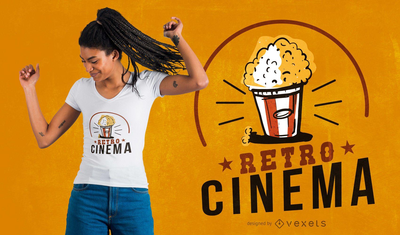 Design de t-shirt de cinema retro