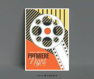 Diseño editable de cartel de cine vintage