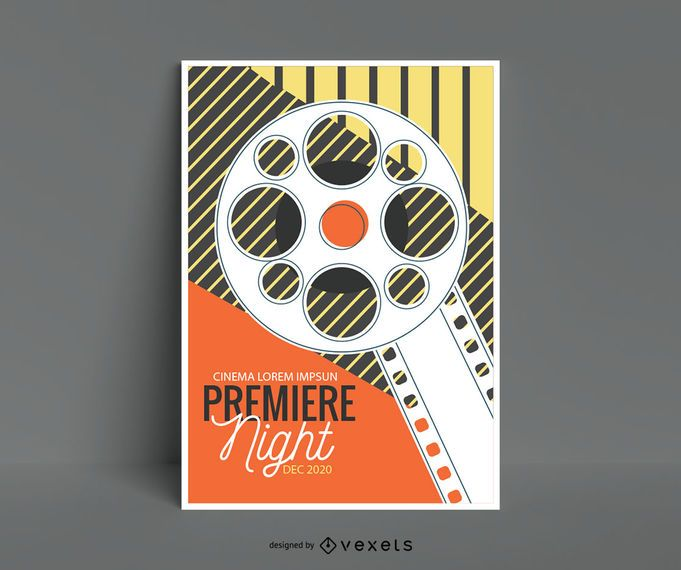 Weinlese-Kino-Plakat-Editable Entwurf