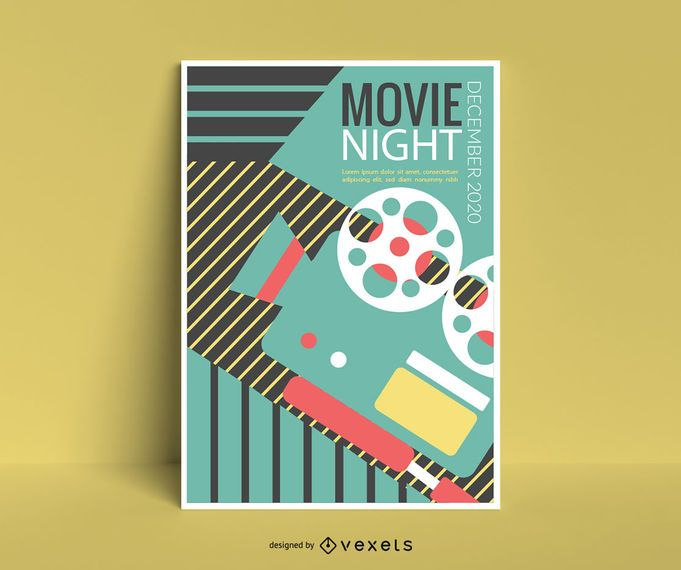 Design de cartaz de evento de cinema