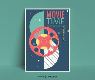 Diseño de carteles de eventos de películas
