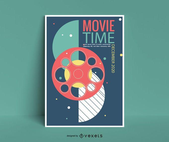 Design de cartaz de evento de filme