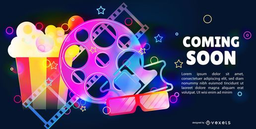 Coming Soon Movie Editable Banner