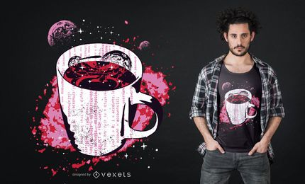 Space coffee t-shirt design