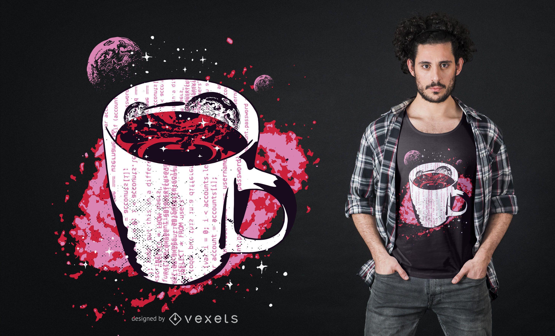Dise?o de camiseta de caf? espacial.