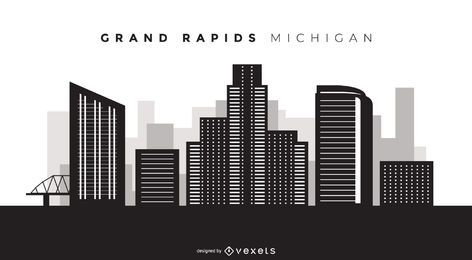 Skyline de grand rapids michigan