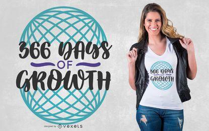 Diseño de camiseta de 366 días.