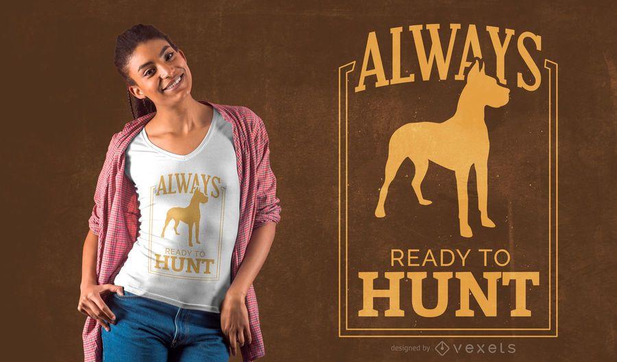 Diseño de camiseta de cita de caza