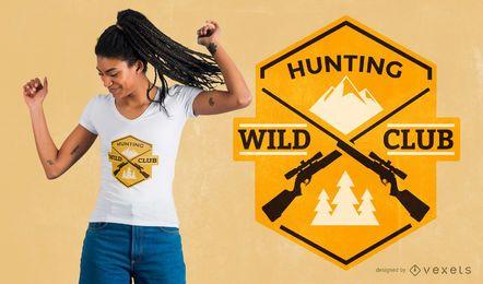 Design de camiseta do clube de caça
