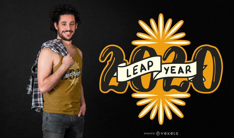Leap year 2020 t-shirt design